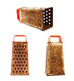 Rusty kitchen grater. Stock Photos