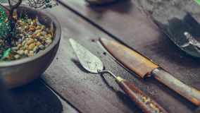 Rusty Knife And Paint Trowel photo stock
