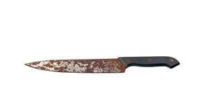 Rusty knife. On white background Stock Photo
