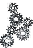 Rusty knot cogs Stock Images