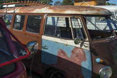 Rusty Kombi at show Stock Image