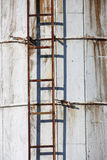 Rusty ladder on Silo Royalty Free Stock Image