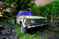 Rusty land rover Royalty Free Stock Images