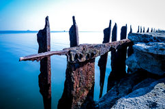 Rusty landing strip Stock Images
