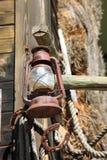 Rusty lantern,oil lamp Stock Photography