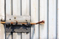 Rusty latch Stock Photography