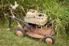 Rusty Lawnmower Stock Photos