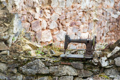 Rusty leaved sewing machine in Oradour sur Glane Royalty Free Stock Images