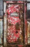 Rusty Letter Box Door Fotografie Stock