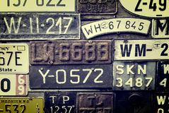 Rusty License Plates Stock Images