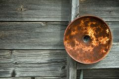 Rusty light fixture Stock Photography