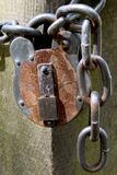 Rusty Lock stock photos