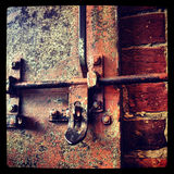 Rusty Lock Stock Image