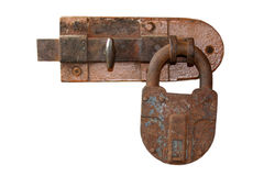 The rusty lock and latch Stock Photos