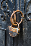 Rusty lock Stock Photo