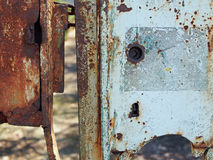 Rusty lock of an old gate, Jelenia Gora, Poland Royalty Free Stock Photography