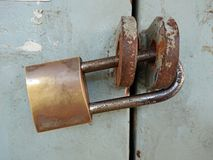 Rusty Lock. An old and rusty lock in used stock image