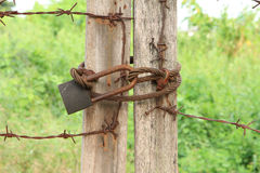 Rusty locked Royalty Free Stock Photo