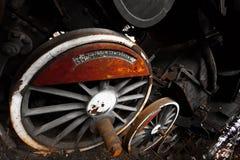 Rusty locomotive wheel detail Royalty Free Stock Image