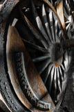 Rusty locomotive wheel detail Stock Photography