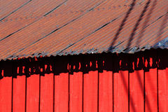 Rusty Lofoten's roof Royalty Free Stock Images