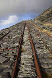 Incline up abandoned slate quarry Stock Image