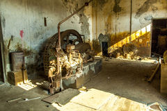 Rusty machine in old rotten Royalty Free Stock Photo