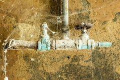 Rusty machine in old rotten. Refinery station Royalty Free Stock Image