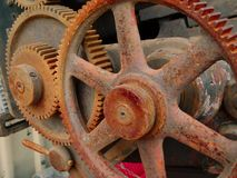 Rusty machinery (V). Rusty wheels of a countryside machinery Stock Photo