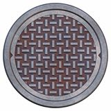 Rusty manhole cover royalty free illustration