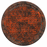 Rusty manhole cover Stock Photo