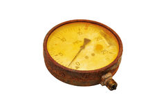 Rusty manometer. Stock Images