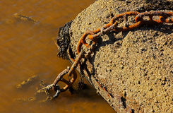 Rusty Marine Chain Harbor Water Stock Images