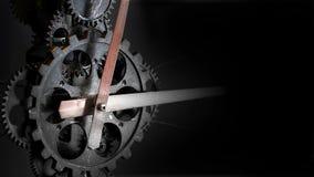Rusty Mechanic Clock Gears retro imagens de stock