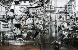 Rusty Mechanism of Banknote Equipment Manufacturers. In Manufactory Stock Photo