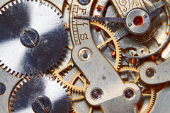 Rusty mechanism in the old clock Royalty Free Stock Image