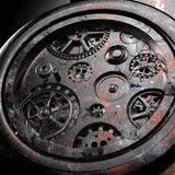 Rusty mechanism in the old clock. 3d illustration Royalty Free Stock Image