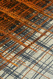 Rusty Mesh. Layer upon layer of abandoned rusty gridded mesh royalty free stock photos