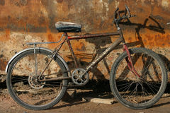 Rusty metal. Bicycle, Egypt Royalty Free Stock Images
