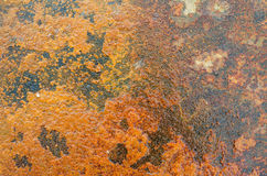 Rusty metal background. Red rusty old metal background for wallpaper Stock Image