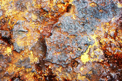 Rusty Metal Background. With layers of old paint Stock Photos