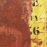 Rusty Metal Background Arkivfoton
