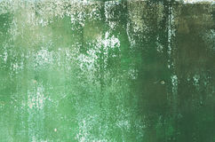 Rusty metal background of emerald color Royalty Free Stock Photography