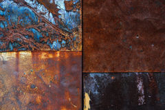 Rusty metal background. Background image of a piece of rusty iron Stock Image
