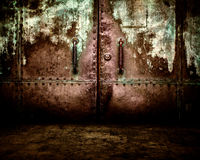 Rusty Metal Background Interior Stage Royalty-vrije Stock Foto's