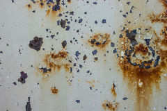 Rusty metal background. Old  metallic surface background with rusty spots Stock Images