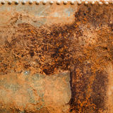 Rusty Metal Background with rusted bolts or rivets. Taken from water tank Stock Image
