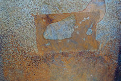 Rusty metal background texture in full frame.  Royalty Free Stock Image
