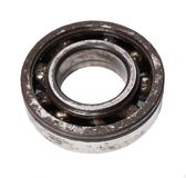 Rusty metal ball bearing isolated Stock Photo