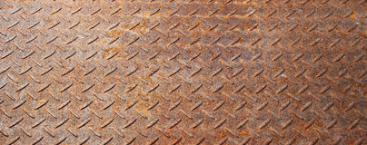 Rusty Metal Banner Background Arkivbilder